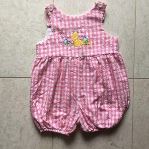 KELLY'S KIDS pink gingham Caterpillar romper 3